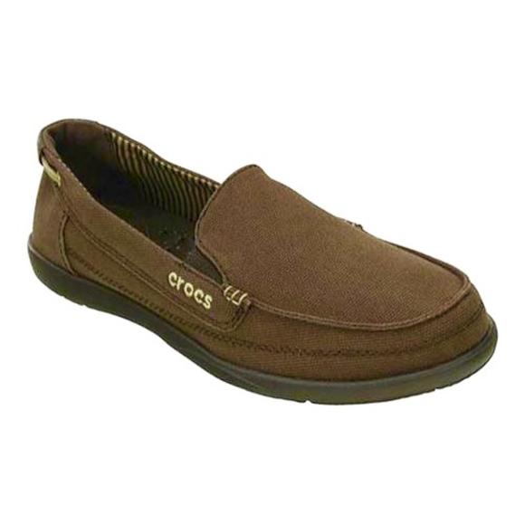 ae65125846b CROCS Shoes - Crocs Women Walu Canvas Loafer Deck Shoe